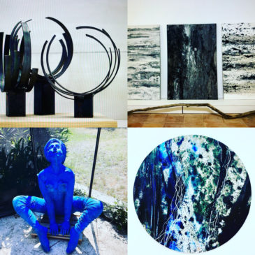 Exposition  Arles chapelle Sainte Anne «Par Nature» peintures et sculptures monumentales